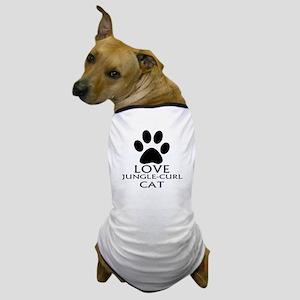 Love Jungle-curl Cat Designs Dog T-Shirt