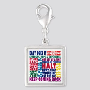 AA 12-Step Slogans Charms
