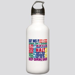 AA 12-Step Slogans Stainless Water Bottle 1.0L