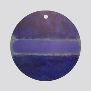 Shades of Purples rothko copy_ Ornament (Round)
