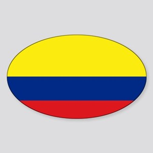Colombian flag Oval Sticker