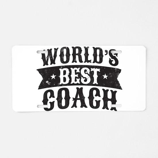 World's Best Coach Aluminum License Plate