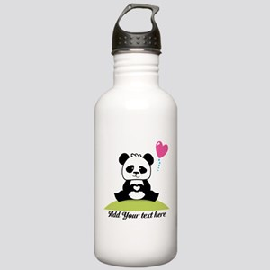 Panda's hands showing Stainless Water Bottle 1.0L