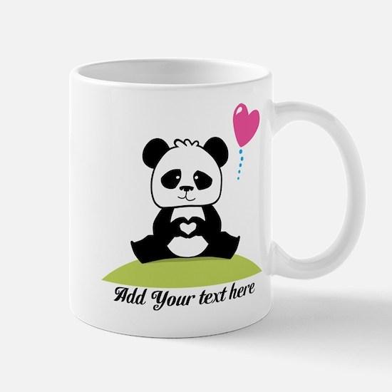Panda's hands showing love Mug