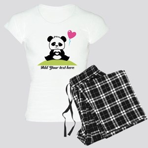 Panda's hands showing love Women's Light Pajamas
