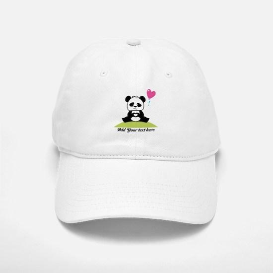 Panda's hands showing love Baseball Baseball Cap