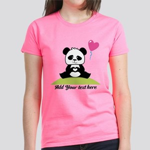 Panda's hands showing love Women's Dark T-Shirt