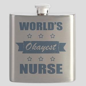 World's Okayest Nurse Flask