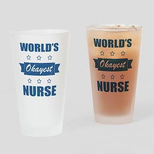 World's Okayest Nurse Drinking Glass
