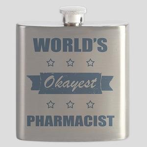 World's Okayest Pharmacist Flask