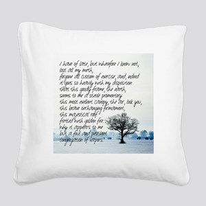 Sterile Promentory Square Canvas Pillow