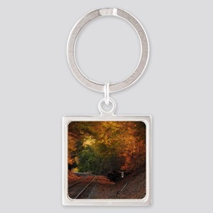 Fall Tunnel Square Keychain