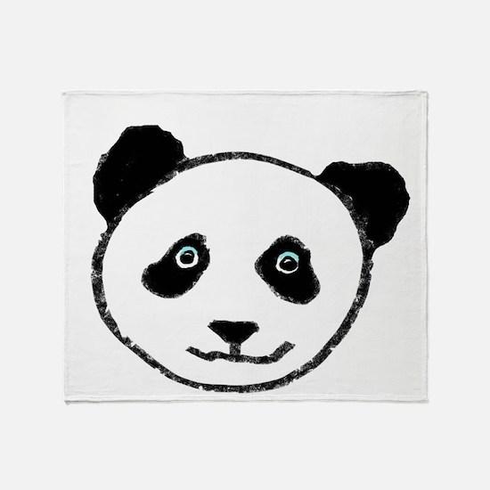 pandaface.png Throw Blanket