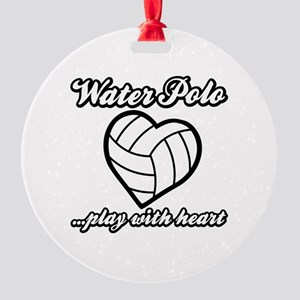 PLAY w HEART WP Round Ornament