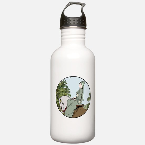 Woman on a Horse Sports Water Bottle