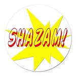 shazam Round Car Magnet
