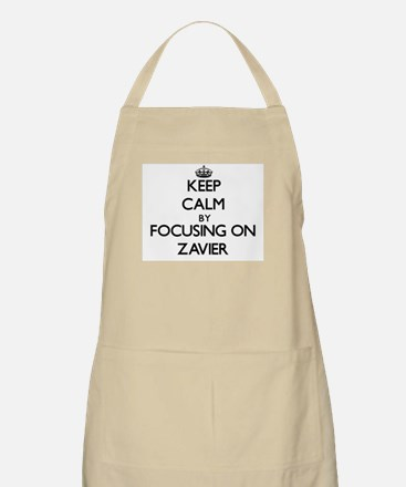 Keep Calm by focusing on on Zavier Apron