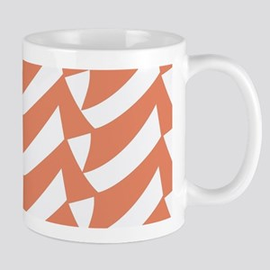 Coral Melon Checks Mugs