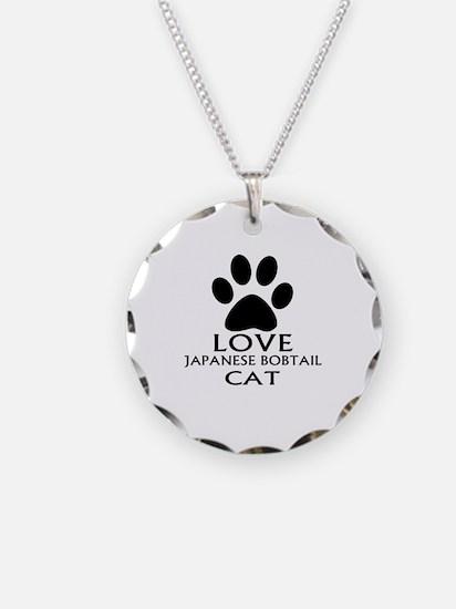 Love Japanese Bobtail Cat De Necklace