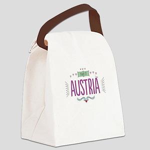 Austria Canvas Lunch Bag