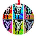 Art Dog Ornament