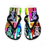 Art Dog Flip Flops