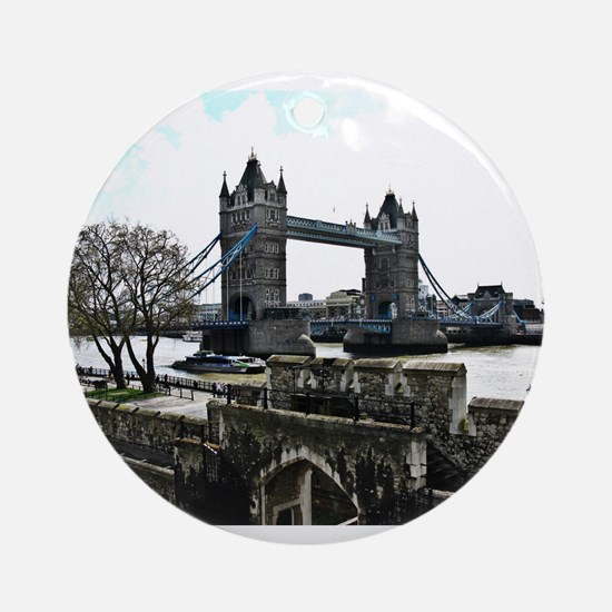 London England Tower Bridge Ornament (Round)