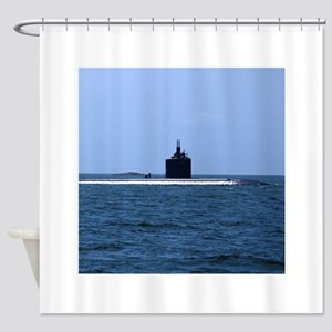 USS Annapolis at Sea Shower Curtain