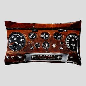 Vintage car auto instrument panel  Pillow Case