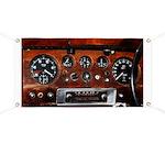 Vintage car radio dashboard instruments Banner