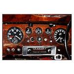 Vintage car radio dashboard instruments Poster Art