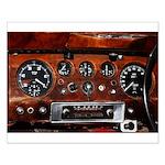 Vintage car radio dashboard instruments Poster Des
