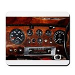 Vintage car radio dashboard instruments Mousepad
