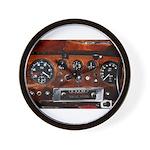 Vintage car radio dashboard instruments Wall Clock