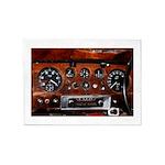 Vintage car radio dashboard instruments 5'x7'Area