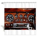 Vintage car radio dashboard instruments Shower Cur