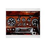 Vintage car radio dashboard instruments Throw Blan