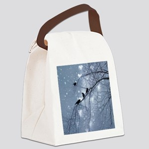 Crows Snow Canvas Lunch Bag