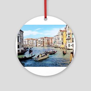 Venetian Traffic Jam Ornament (Round)