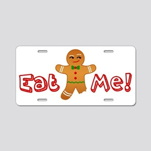Eat Me Gingerbread Aluminum License Plate