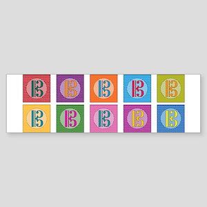 Pop Art Alto Clef C-Clef Bumper Sticker