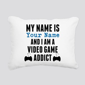 Video Game Addict Rectangular Canvas Pillow