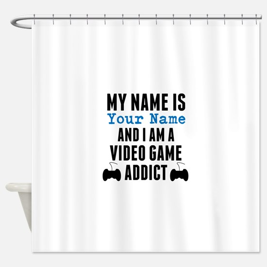 Video Game Addict Shower Curtain