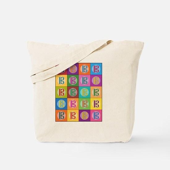 Pop Art C-Clef Alto Clef Tote Bag