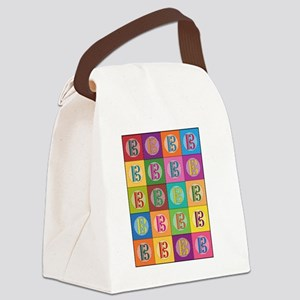 Pop Art C-Clef Alto Clef Canvas Lunch Bag