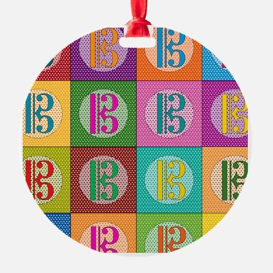 Pop Art C-Clef Alto Clef Ornament