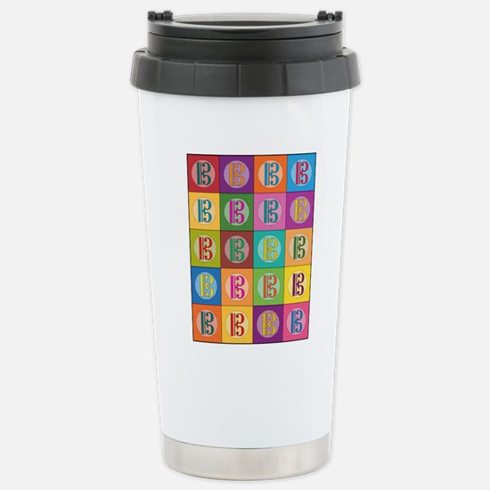 Pop Art C-Clef Alto Cle Stainless Steel Travel Mug