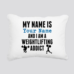 Weightlifting Addict Rectangular Canvas Pillow