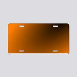 Orange and Black Aluminum License Plate