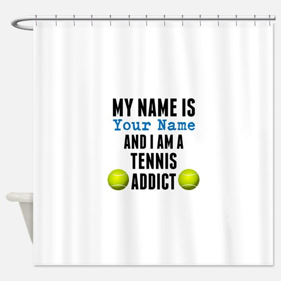 Tennis Addict Shower Curtain